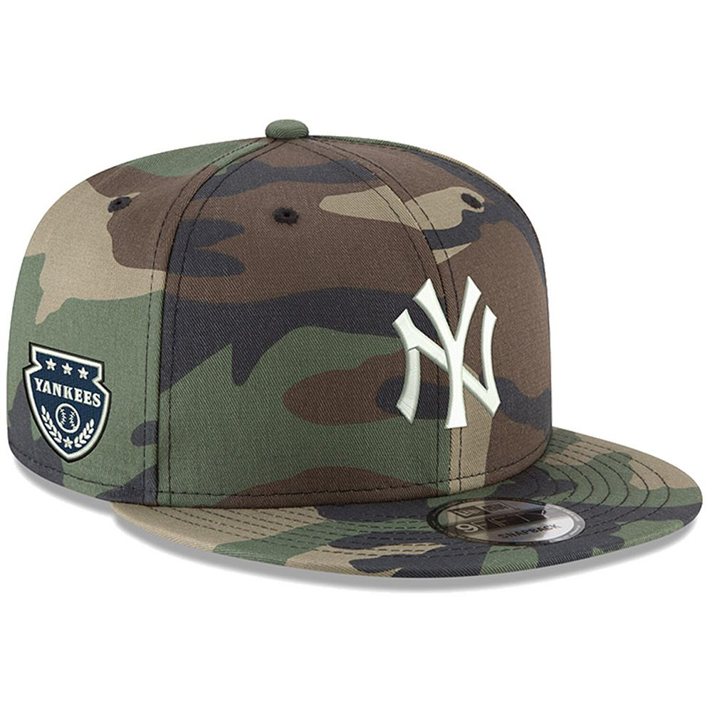 Men's New Era Camo New York Yankees Military Patch 9FIFTY Snapback Hat