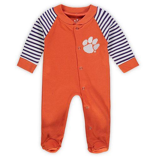 Infant Orange Clemson Tigers Little Snap Sleeper