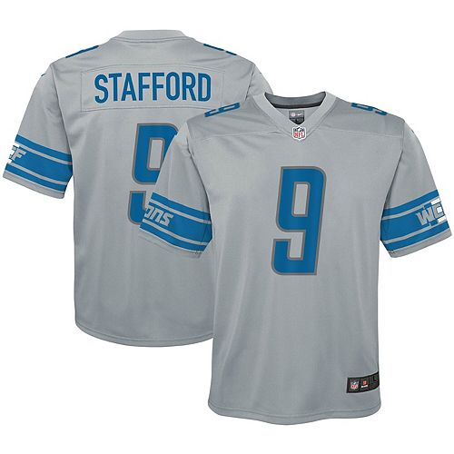 Youth Nike Matthew Stafford Silver Detroit Lions Inverted Game Jersey