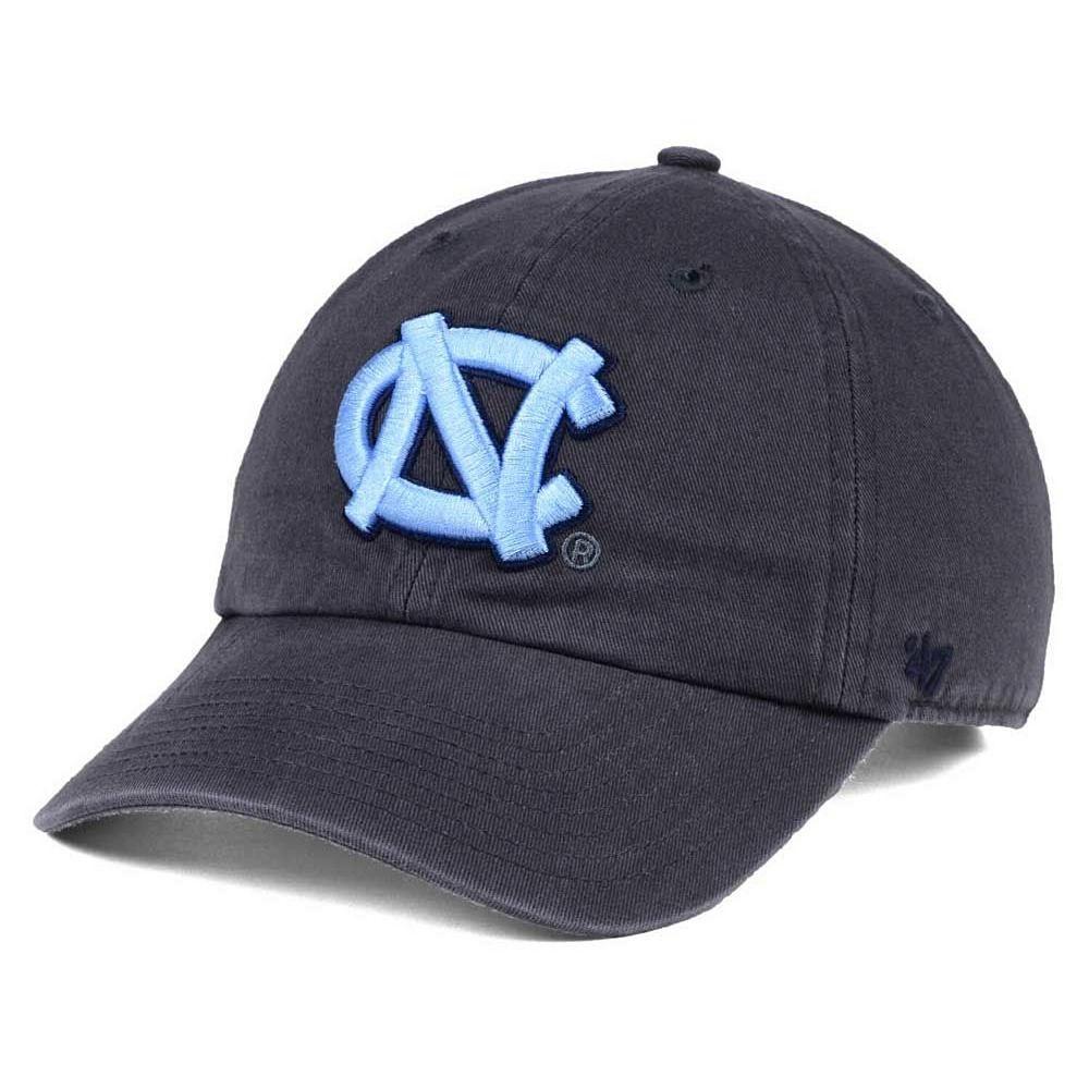 North Carolina Tar Heels '47 Clean Up Adjustable Hat - Charcoal
