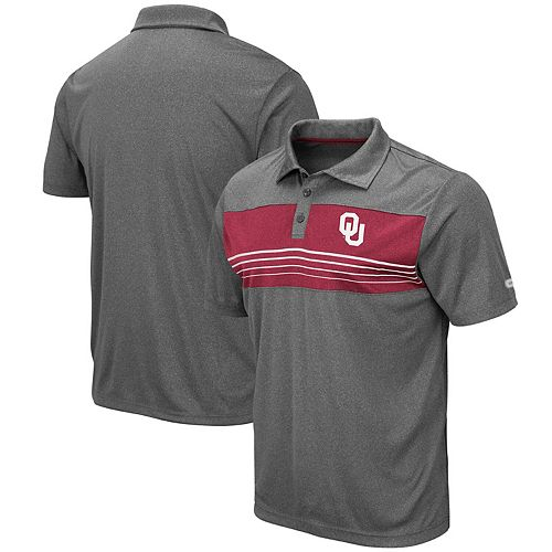 Men's Colosseum Heathered Charcoal Oklahoma Sooners Big & Tall Smithers Polo