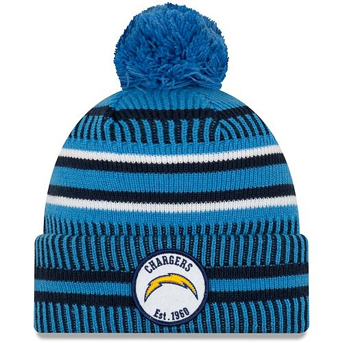 Youth New Era Navy Los Angeles Chargers 2019 NFL Sideline Home Reverse Sport Knit Hat