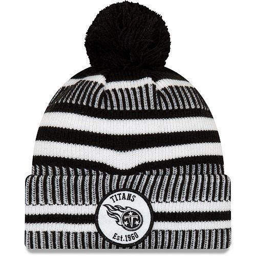 Men's New Era Black Tennessee Titans 2019 NFL Sideline Home Sport Knit Hat