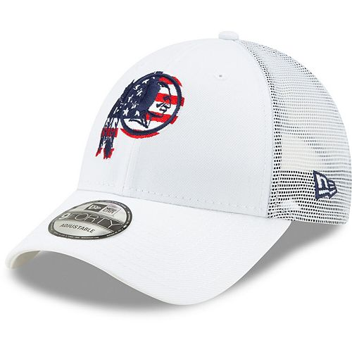 exquisite style coupon code best price Men's New Era White Washington Redskins Flag Fill 9FORTY ...