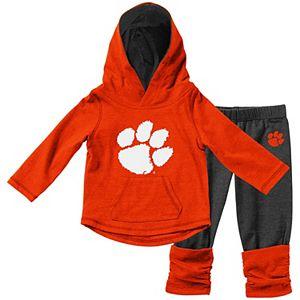 Girls Infant Colosseum Orange Clemson Tigers Minerva Long Sleeve T-Shirt and Leggings Set