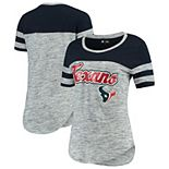 Women's New Era Navy Houston Texans Glitter Gel T-Shirt