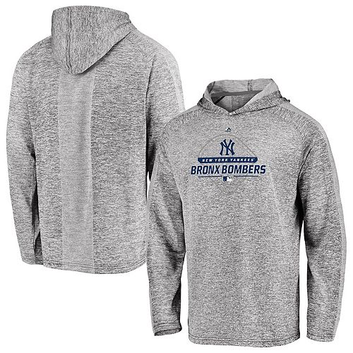 detailed pictures a3a4f febb0 Men's Majestic Gray New York Yankees Authentic Midseason Cool Base Pullover  Hoodie