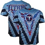 Men's Majestic Light Blue/ Tennessee Titans V Tie-Dye T-Shirt