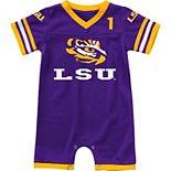Infant Colosseum Purple LSU Tigers Bumpo Football Romper