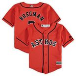 Toddler Majestic Alex Bregman Orange Houston Astros Alternate Official Cool Base Player Jersey