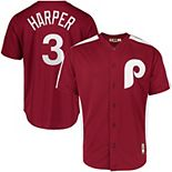 Men's Majestic Bryce Harper Maroon Philadelphia Phillies 1979 Saturday Night Special Cool Base Cooperstown Player Jersey