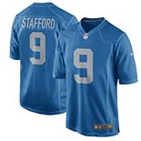 Youth Nike Matthew Stafford Blue Detroit Lions 2017 Throwback Game Jersey