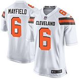 Youth Nike Baker Mayfield White Cleveland Browns Player Game Jersey