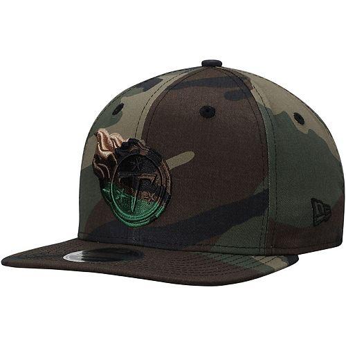 Men's New Era Tennessee Titans Tonal Woodland Camo Capped 9FIFTY Adjustable Hat