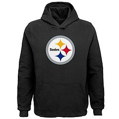 Pittsburgh Steelers Big Logo Hooded Sweater Double Extra Large