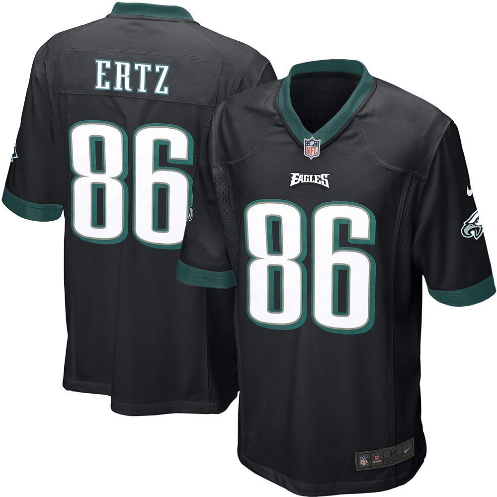 Mens Philadelphia Eagles Zach Ertz Nike Black Alternate Game Jersey