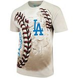 Men's Cream Los Angeles Dodgers Hardball Tie-Dye T-Shirt
