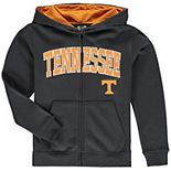 Youth Charcoal Tennessee Volunteers Applique Arch & Logo Full-Zip Hoodie