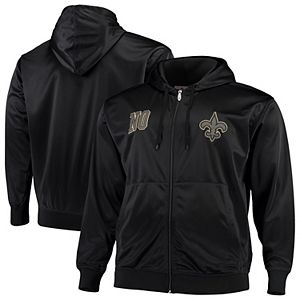 Men S G Iii Sports By Carl Banks Black Charcoal New Orleans Saints Extreme Special Team Pullover Hoodie