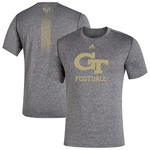 Men's adidas Gray Georgia Tech Yellow Jackets 2019 Cape Day T-Shirt