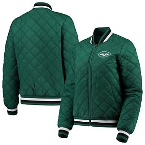 Women's G-III 4Her by Carl Banks Green New York Jets Goal Line Quilted Bomber Full-Zip Jacket