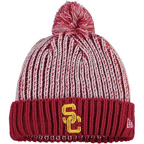 USC Trojans Knit Pom Beanie Cap