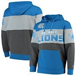 Men's G-III Sports by Carl Banks Blue Detroit Lions Extreme Special Team Pullover Hoodie