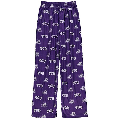 Youth Purple TCU Horned Frogs Printed Allover Flannel Pants