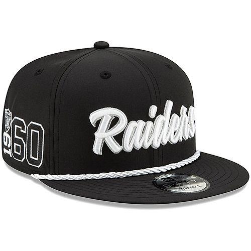 Oakland Raiders Hat NFL New Era Establisher 9FIFTY Snapback Men/'s Cap Black