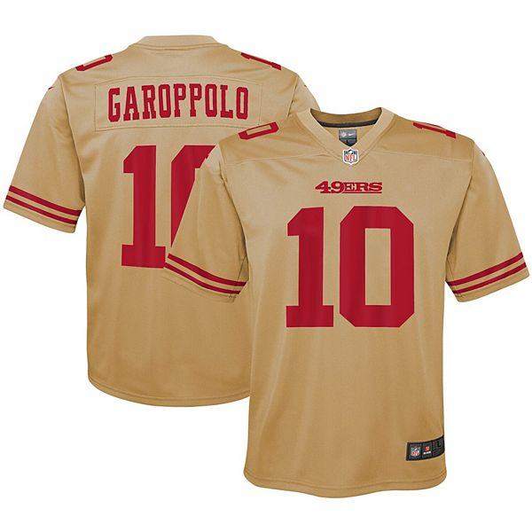 Youth Nike Jimmy Garoppolo Gold San Francisco 49ers Inverted Game Jersey