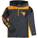 Youth Colosseum Heathered Navy West Virginia Mountaineers Quick Kick Quarter-Zip Hoodie