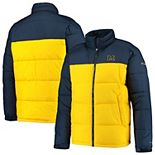 Men's Columbia Navy/Maize Michigan Wolverines Pike Lake Omni-Heat Full-Zip Jacket