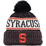 Youth New Era Navy Syracuse Orange Sport Knit Hat with Pom