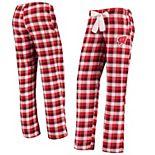 Women's Concepts Sport Red/Black Wisconsin Badgers Piedmont Flannel Pants