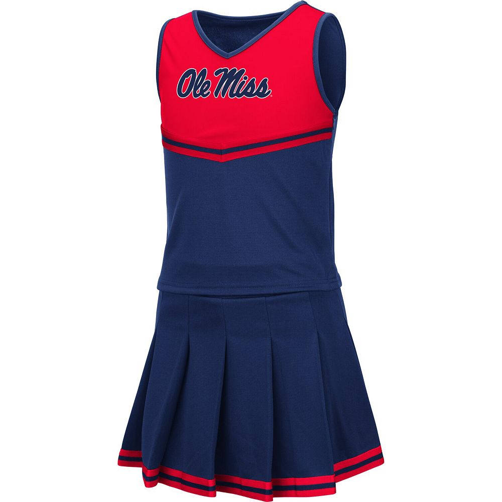 Girls Youth Colosseum Navy Ole Miss Rebels Pinky Cheer Dress