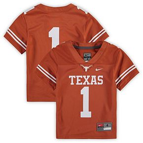 Preschool Nike #1 Texas Orange Texas Longhorns Untouchable Football Jersey