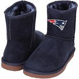 Women's Cuce Navy New England Patriots The Rookie Mini Boots