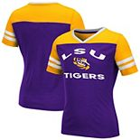 Girls Youth Colosseum Purple LSU Tigers Faboo V-Neck T-Shirt