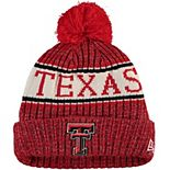 Youth New Era Red Texas Tech Red Raiders Sport Knit Hat with Pom