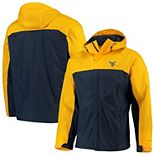 Men's Columbia Gold/Navy West Virginia Mountaineers Glennaker Storm Full-Zip Jacket