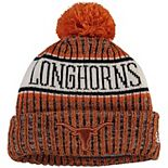 Men's New Era Texas Orange Texas Longhorns Sport 2.0 Cuffed Knit Hat with Pom
