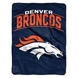 "The Northwest Company Denver Broncos Strong Side 60"" x 80"" Raschel Throw Blanket"
