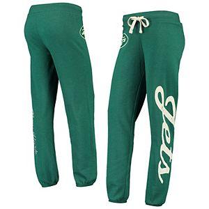 Women's G-III 4Her by Carl Banks Green New York Jets Team Scrimmage Fleece Pants