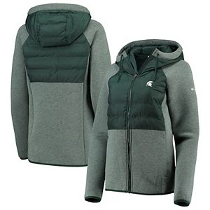 Women's Columbia Green Michigan State Spartans Northern Comfort Full-Zip Hybrid Jacket