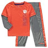 Toddler Colosseum Orange/Heathered Gray Clemson Tigers Bayharts Long Sleeve T-Shirt and Pants Set