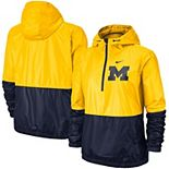 Women's Nike Maize/Navy Michigan Wolverines Anorak Half-Zip Jacket