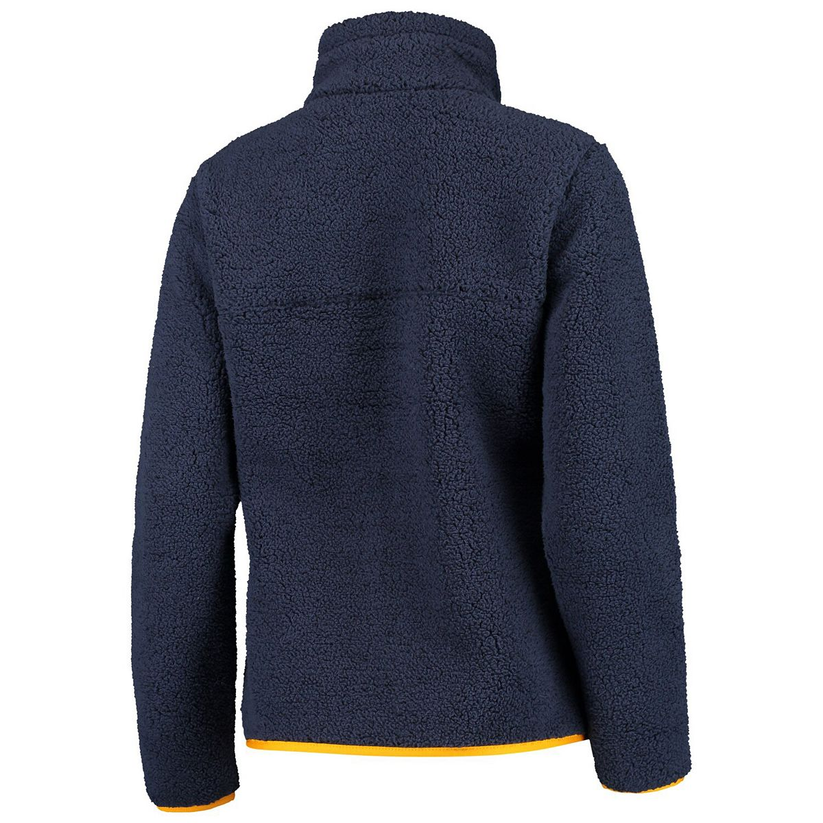 Women's Columbia Navy West Virginia Mountaineers Mountain Side Sherpa Fleece Full-Zip Jacket Cy5am