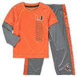 Toddler Colosseum Orange/Heathered Gray Miami Hurricanes Bayharts Long Sleeve T-Shirt and Pants Set