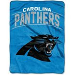 "The Northwest Company Carolina Panthers Strong Side 60"" x 80"" Raschel Throw Blanket"