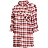 Women's Concepts Sport Garnet/Gold Florida State Seminoles Piedmont Flannel Long Sleeve Button-Up Nightshirt